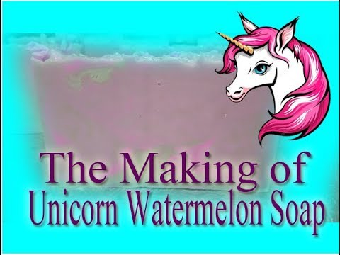 The Making of Unicorn Watermelon Melt and Pour Soap