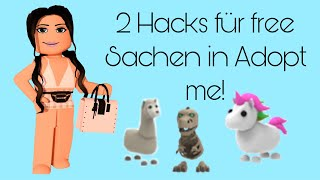 2 Hacks für Free Sachen in Adopt me! (Deutsch)