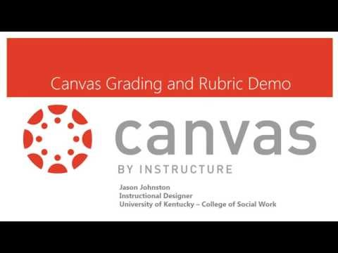 Grading and Rubrics in Canvas Demo Tutorial