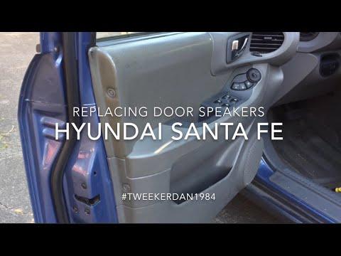 How to replace door speakers in Hyundai Santa Fe
