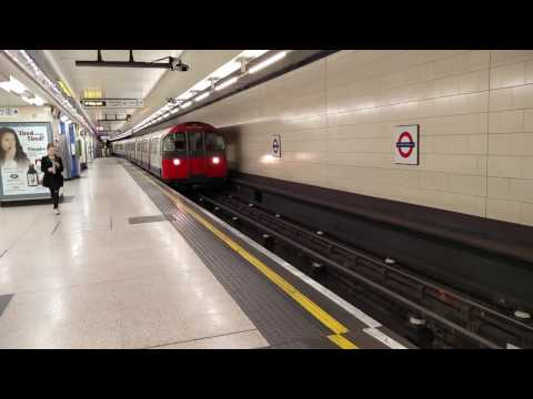 Piccadilly Line Train Arriving at London Heathrow Terminals 1, 2, 3 on the London Underground