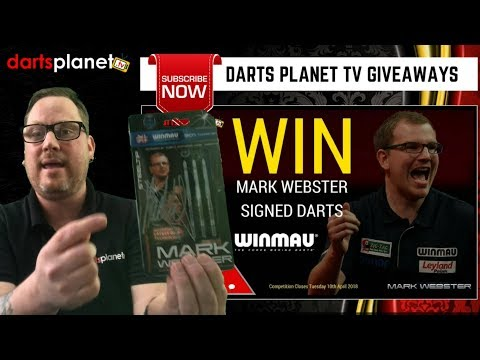 MARK WEBSTER SIGNED DARTS WINNER IS ........ + MORE PRIZE ANNOUNCEMENTS
