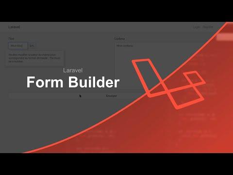 Tutoriel Laravel : Form Builder