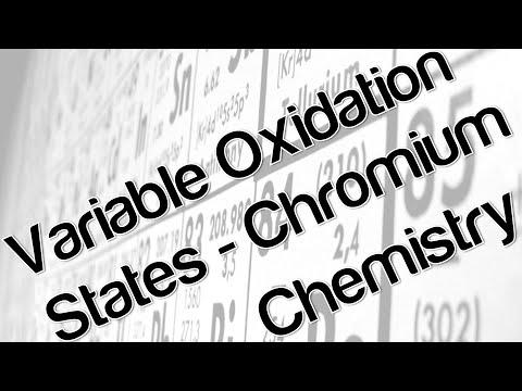 Variable oxidation states chromium chemistry
