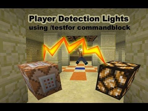 How to make player sensor lights in vanilla  Minecraft