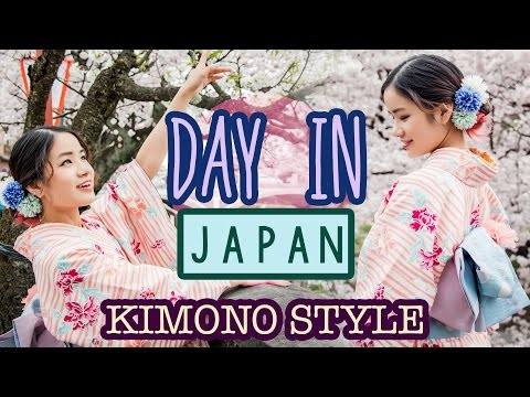 A Day in JAPAN | Wearing a Kimono | SAKURA Cherry Blossoms | KimDao