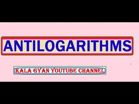 How to use and  find and calculate antilog values using log table-2
