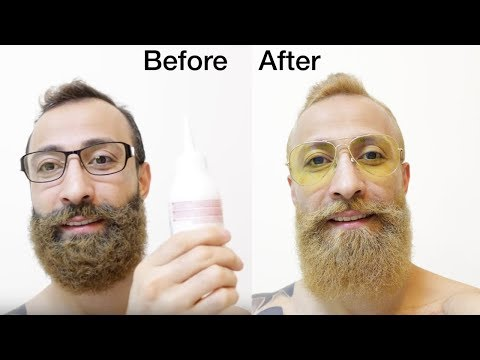 HOW TO DYE YOUR BEARD AT HOME ★BLOW-DRY AND STYLE YOUR BEARD TUTORIAL 2017★[NO MORE CURLY BEARD]✔️
