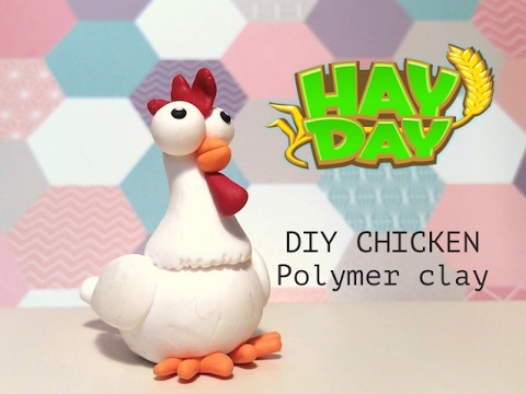 DIY Hay Day Chicken - Polymer clay tutorial