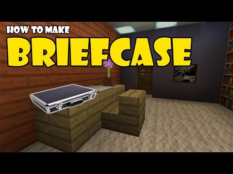How to Make a BRIEFCASE | Minecraft PE (Pocket Edition) MCPE | aka SUITCASE