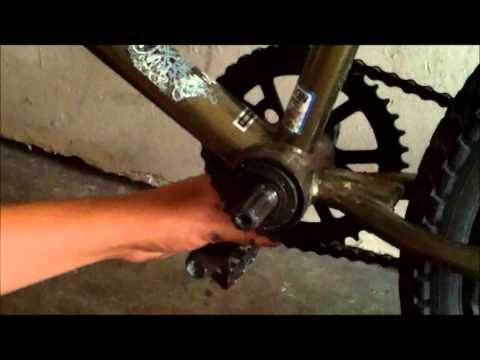 how to take off bmx cranks