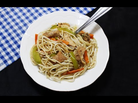 Chinese Chicken Noodles - Chef Lall's Kitchen