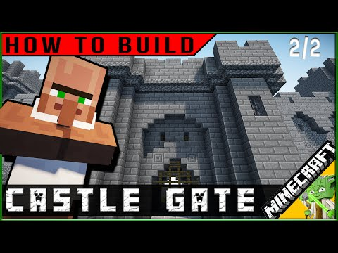 How to Build: Minecraft Castle Gate part 2/2
