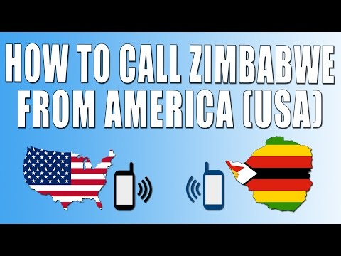 How To Call Zimbabwe From America (USA)