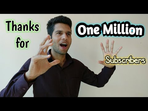 1 Million Subscribers in just 1 Year ! My Primary Solution