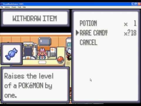 Pokemon Emerald - Rare Candys code !!!