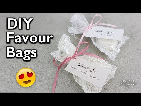 Cheap and easy - NO SEW lace bombonniere favour bags for Wedding or Christening | Eternal Stationery