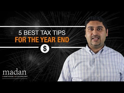 5 Best Tax Tips for the Year End