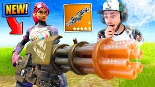 *NEW* MINI-GUN EARLY preview in Fortnite: Battle Royale!