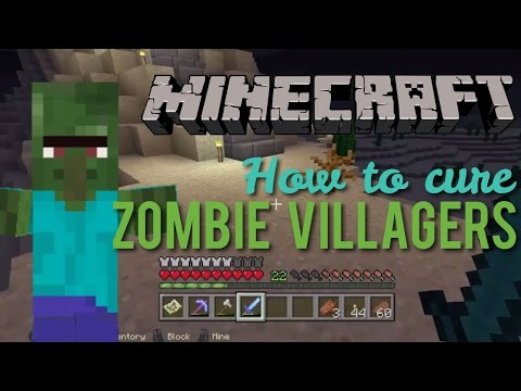 How to Cure Zombie Villagers Minecraft XBOX One