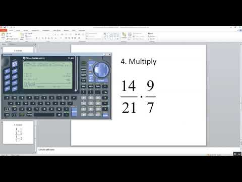 Technology in College Algebra - Fractions - TI-92