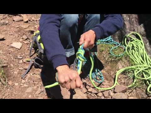 How to Tie Two Ropes together with the Gibbs Bend for rappelling