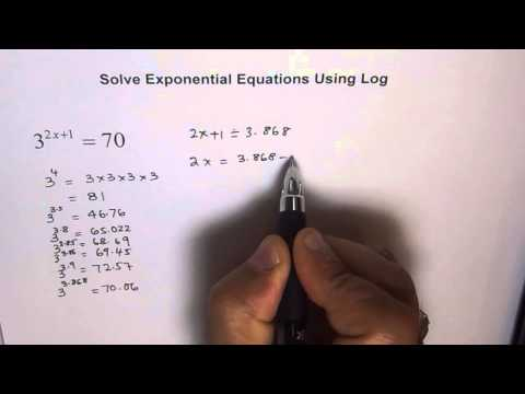 Solve Exponential Equation by Approximation and Log