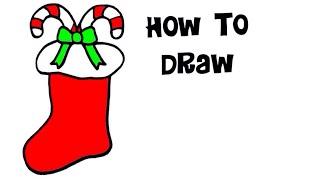 Christmas Stocking Drawing Easy.Easy Christmas Drawing Videos 9tube Tv