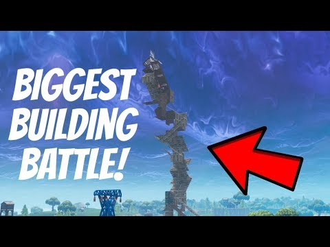 BIGGEST BUILD BATTLE EVER!! (build battle up to max build height)