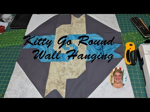 Kitty Go Round Quilted Wall Hanging