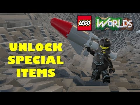 Lego Worlds - How to clear dungeons and unlock special weapons fast