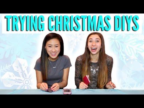 TESTING PINTEREST CHRISTMAS CRAFTS & DIYS | Vlogtorial #1