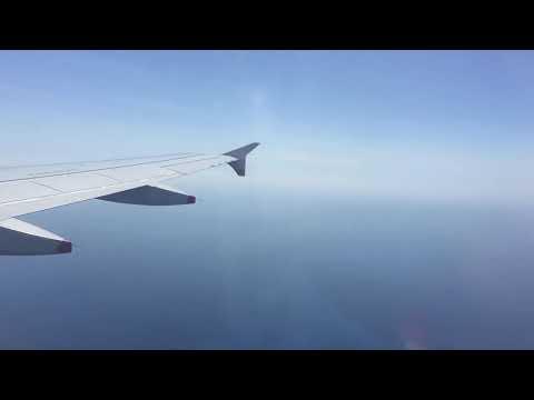 Landing time lapse at Genoa airport