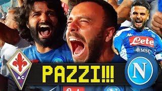 PAZZI!!! FIORENTINA 3-4 NAPOLI   LIVE REACTION NAPOLETANI HD