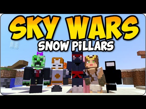Minecraft PS3, PS4 Skywars - The Snow Pillars -Multiplayer Playstation 4 Console Edition Gameplay