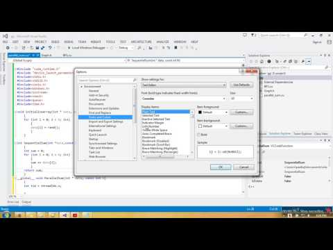 How to change font size and color in Visual Studio