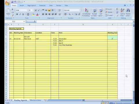 Meeting Agenda with Minutes and Actions