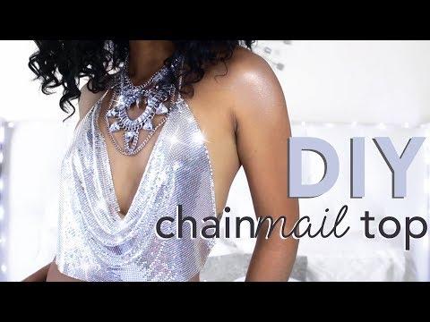 DIY CHAINMAIL TOP // KENDALL DRESS UPDATE | Adonia Bree