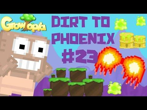 Growtopia - Dirt To Phoenix #23 | TOXIC WASTE BARRELS