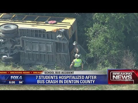7 students injured after Northwest ISD school bus crashes