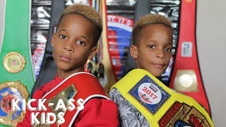 9-Year-Old Twins Are Boxing Champions | KICK-ASS KIDS