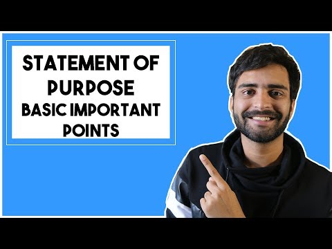 Statement of Purpose - Basic points to keep in mind!  | MS in the US