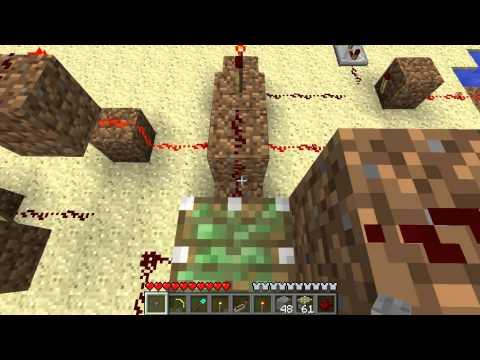 Minecraft 1.7 Piston Elevator - Button-activated Design