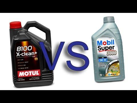 Motul 8100 X-Clean+ 5w30 vs Mobil Super 3000 xe 5W30 test