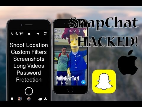HACK SnapChat - NO JAILBREAK & FREE - iOS 10 - iPhone