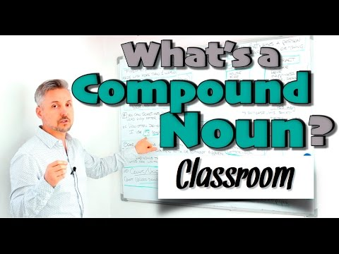 What's a COMPOUND NOUN ? (GREAT lesson on nouns - MUST WATCH)