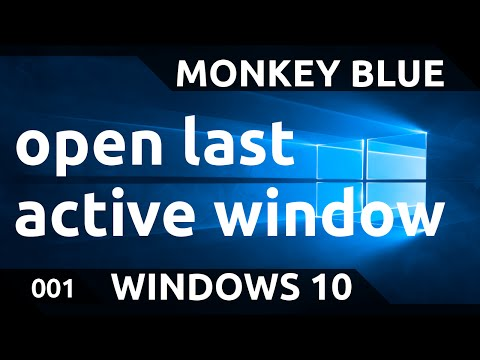 Windows 10: how to make the taskbar buttons switch to the last active window