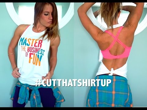 DIY: How to Cut a Basic Halter Top (Closed Front/Open Back) - #CutThatShirtUp with Carolina B