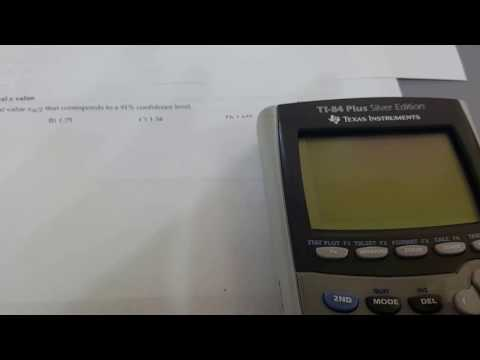 Find the indicate critical z value statisics ti 84