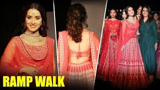 Shraddha Kapoor Ramp Walk For Anita Dongre at The Wedding Junction
